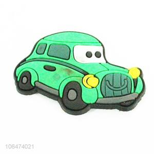 Low price cartoon car shaped silicone fridge magnet