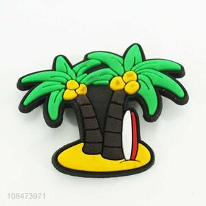 Suitable price cartoon coconut tree shaped silicone fridge magnet