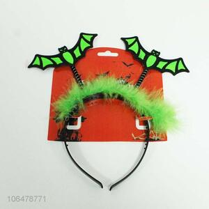 Excellent quality Halloween decoration bat design feather headband