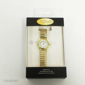 Wholesale fashion design ladies gold watch