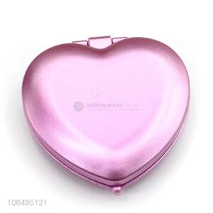 Hot Style Cute Heart Shape Double Side Lady Compact Makeup Mirror