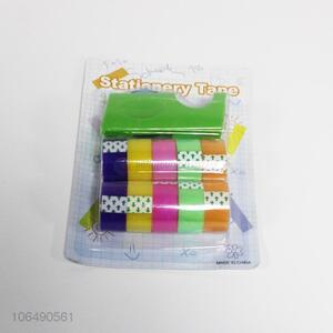 Wholesale multi-purpose colorful single side adhesive stationery tapes