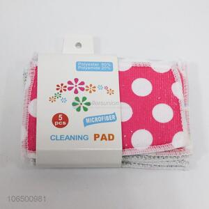 Custom print microfiber green scouring pad cleaning cloth