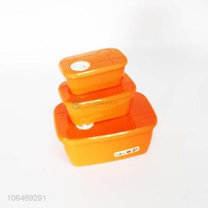 Wholesale 3PC High-end Square Plastic Food Preservation Box