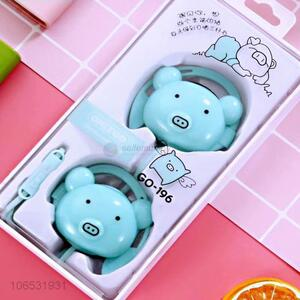 Most popular cartoon pig headset headphones stereo earphones