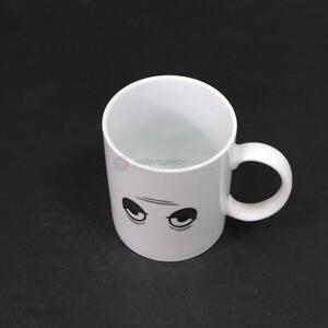 Super quality 300ml hot water color changing ceramic mug with eyes pattern