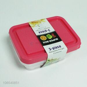 Lowest Price 3PC Plastic Food Container Preservation Box