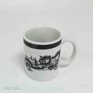 Recent style vintage carriage pattern ceramic water cups