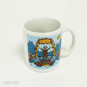 Customized cartoon pattern ceramic cup with top quality