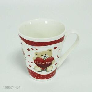 High sales cute bear pattern ceramic cup ceramic mug