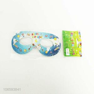 Promotional birthday party props paper glasses paper patch