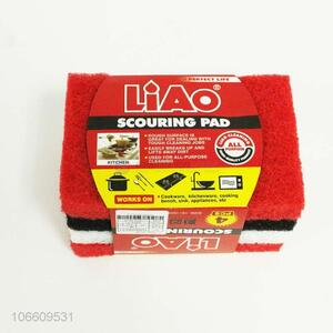 Wholesale 4 Pieces Scouring Pad Best Cleaning Sponge