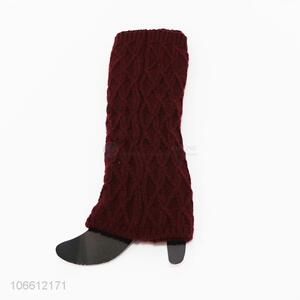 China supplier women winter warm knitting leg warmers
