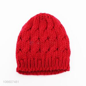 Low price adults winter twisted knitted beanie outdoor hats