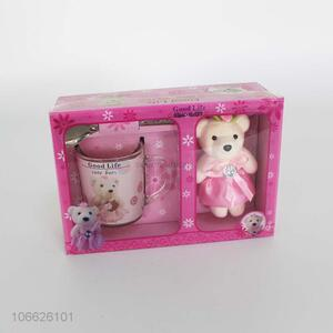 Best selling cute valentines gift set plush bear set