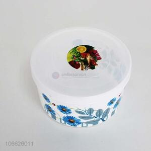 Low price beautiful flower printed plastic preservation box food container