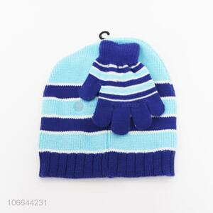 Good Sale Knitted Hat And Gloves Set For Children
