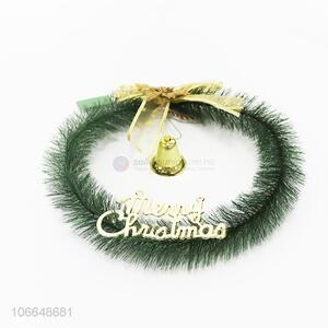 Wholesale holiday decoration Christmas garland with bell