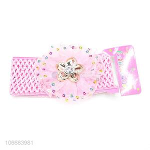 Fashion Baby Girl Hair Accessories Headbands Lace  Elastic Headband