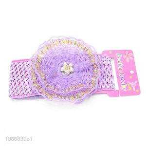 Factory Sell Baby Girl Lace Flower Baby Elastic Headband