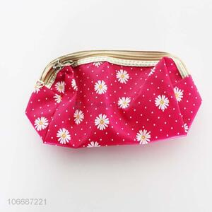 Good quality beautiful daisy printed cosmetic bags