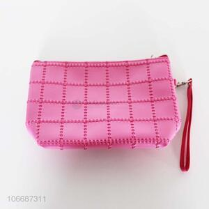 New arrival fashion deluxe women pu cosmetic bag