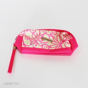 Competitive price durable flower printed polyester cosmetic bag