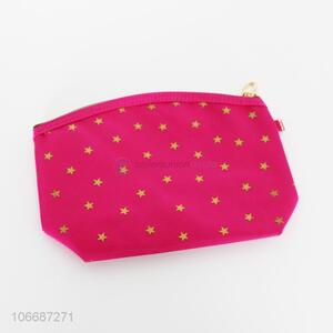 Wholesale fashion star printed polyester cosmetic bag