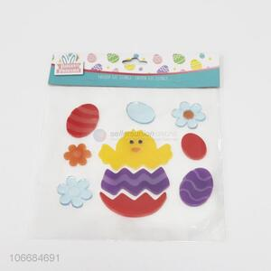 Hot selling Easter decoration window sticker 3D jelly sticker