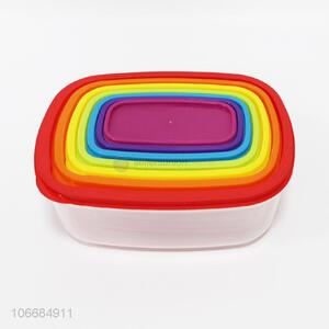 High sales 7pcs colorful preservation box pp food container