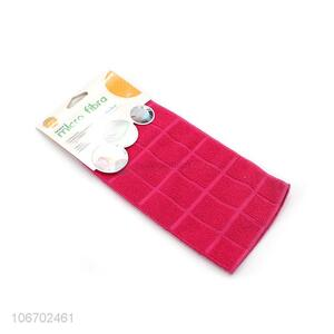 Promotional cheap kitchen cleaning cloth microfiber dish towel