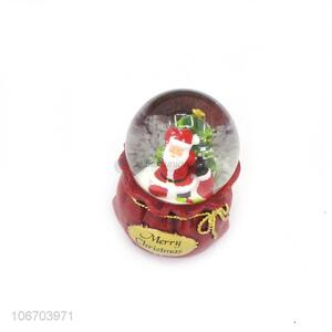 Recent design home decoration resin crafts glass ball for Christmas