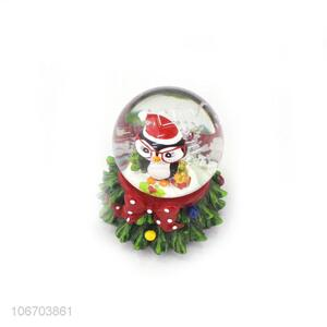 Factory price resin crystal glass ball creative Christmas ornaments