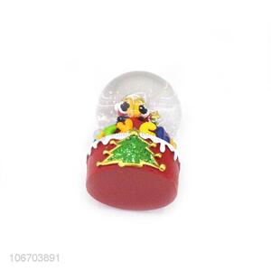 Latest design exquisite resin crystal ball best Christmas gift