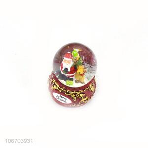 Top manufacturer exquisite Christmas gift resin figurine glass ball