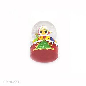 Bottom price Christmas figurine glass crystal ball resin crafts