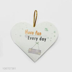 Top manufacturer custom logo heart shape paper greeting card