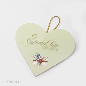 Bottom price custom logo heart shape paper greeting card