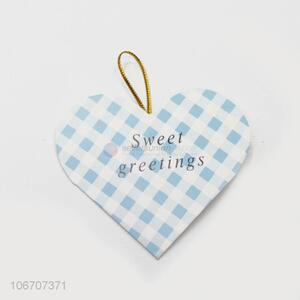 New style custom logo heart shape paper greeting card