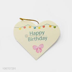Factory price custom logo heart shape paper greeting card