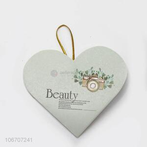 Wholesale fashion custom logo heart shape paper greeting card