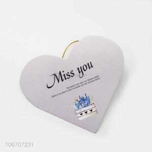 High sales custom logo heart shape paper greeting card