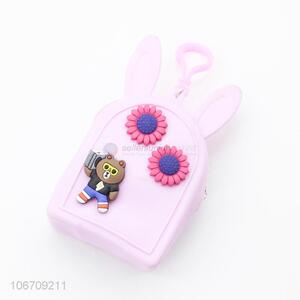 Factory Wholesale Portable Mini Cartoon Bear Pattern Silicone Coin Purse