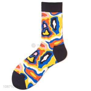 Lowest Price Trendy Mid Calf Socks Cotton Fashional Socks For Man