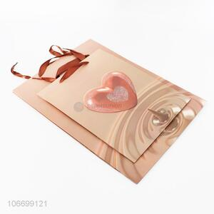 Portable Heart Pattern Paper Gift Bag