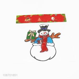 Low price Christmas ornaments pvc window sticker