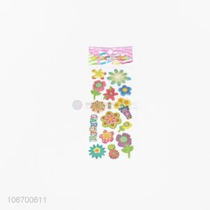Good Quality Colorful Flower Pattern Sticker