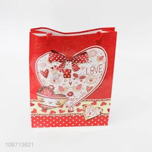 Wholesale Price Sweetly Heart Pattern Paper Gift Bag