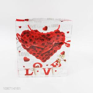 Good Factory Price Rose Heart Pattern Paper Gift Bag