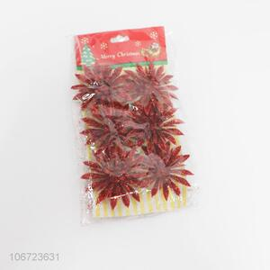 Wholesale 6 Pieces Christmas Decoration Flower Clips